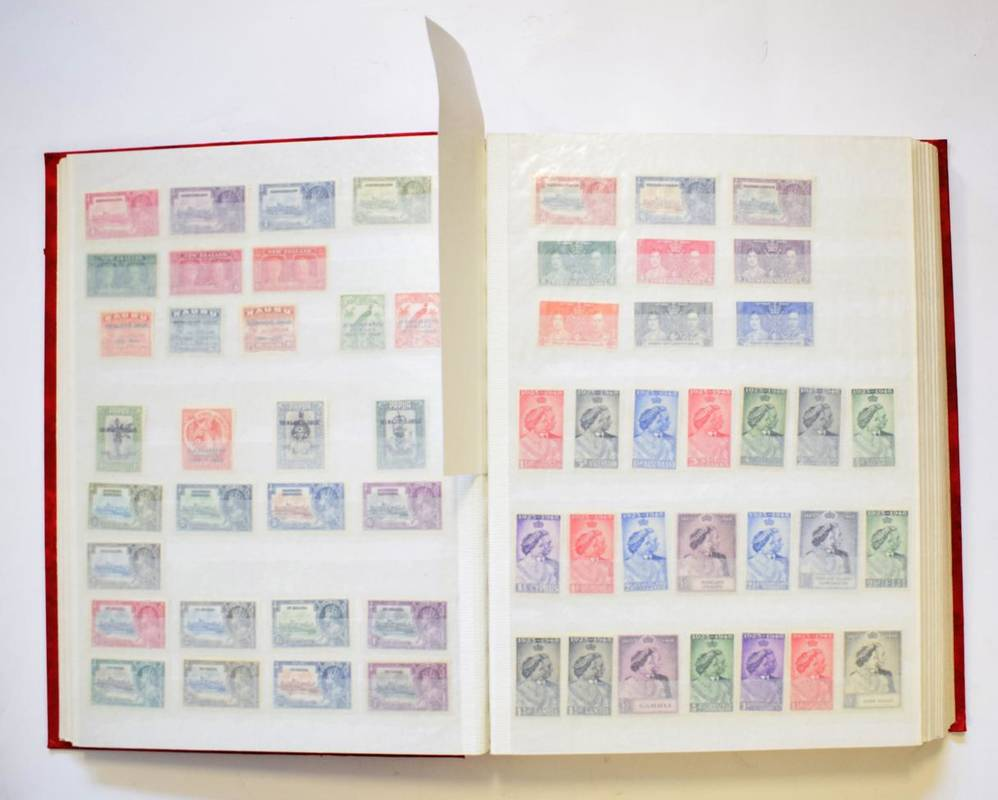 Lot 11 - GB and Commonwealth Collection in a large stockbook - Excellent lot with strength in 1935...