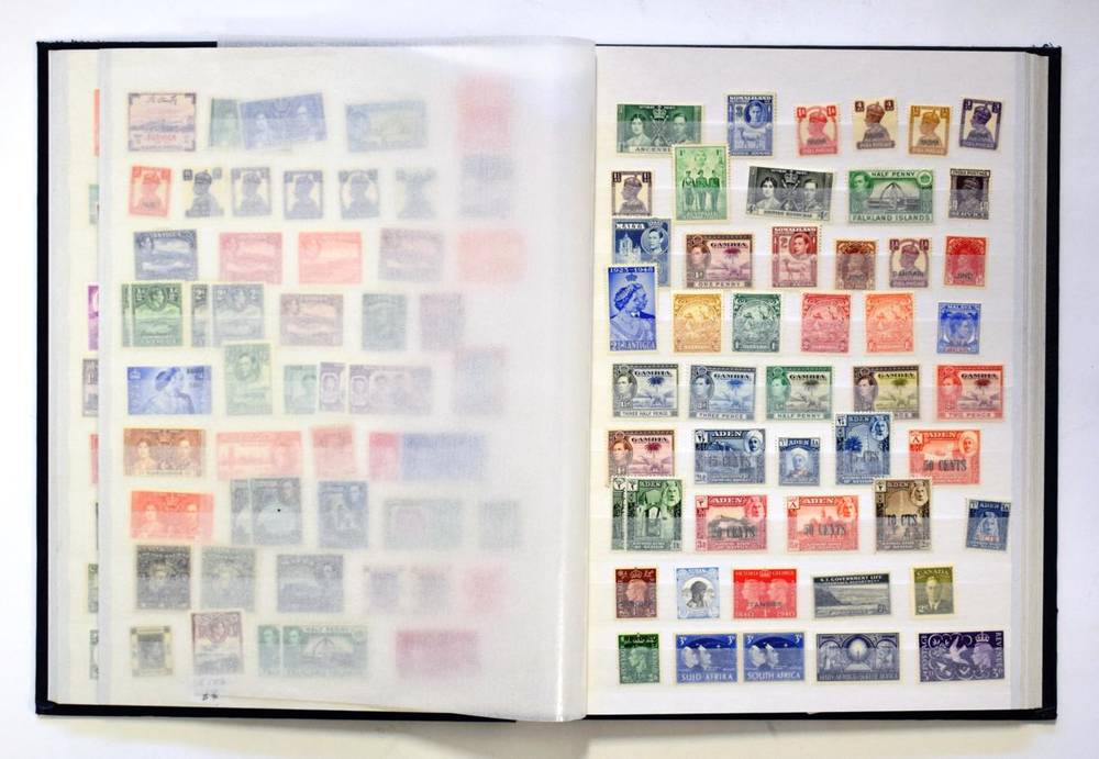 Lot 12 - British Commonwealth - Mint Collection in a fine stockbook with higher values and better items...