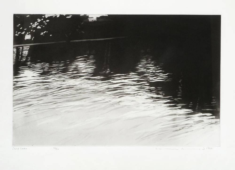 Lot 15 - Norman Ackroyd CBE, RA (b.1938) ''Carp Lake'' Signed and dated 1988, inscribed and numbered...