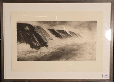 Lot 19 - Jason Hicklin (b.1966) ''Bempton Cliffs, Yorkshire'' Signed, inscribed and dated (20)06,...