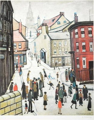 Lot 33 - After Laurence Stephen Lowry RBA, RA (1887-1976) ''Berwick upon Tweed'' Signed, with the blindstamp