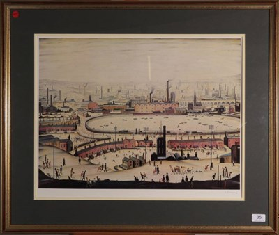 Lot 35 - After Laurence Stephen Lowry RBA, RA (1887-1976) ''The Pond'' Signed, with the blindstamp for...