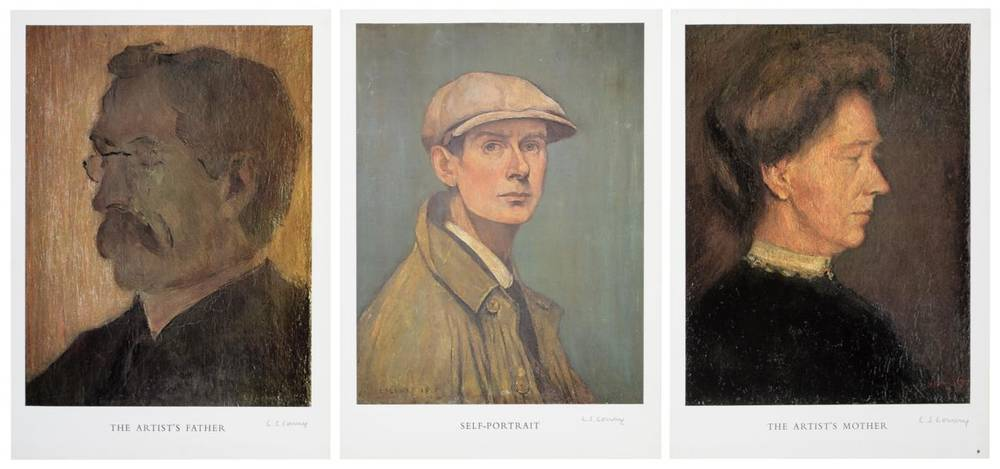 Lot 36 - After Laurence Stephen Lowry RBA, RA (1887-1976) ''Self Portrait''; ''The Artist's Mother'';...
