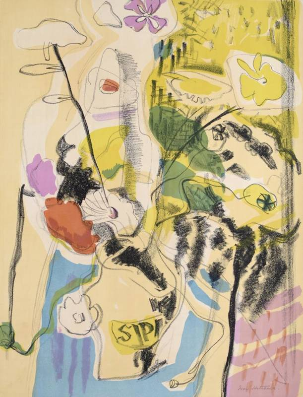 Lot 43 - Ivon Hitchings CBE (1893-1979)  ''Still Life'' Signed, lithograph, 61cm by 46.5cm (unframed)...