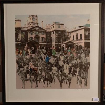 Lot 46 - Sir Peter Blake CBE RDI RA (b.1932)  ''Horse Guards Parade - Horses and Horsemen''  ''Petticoat...