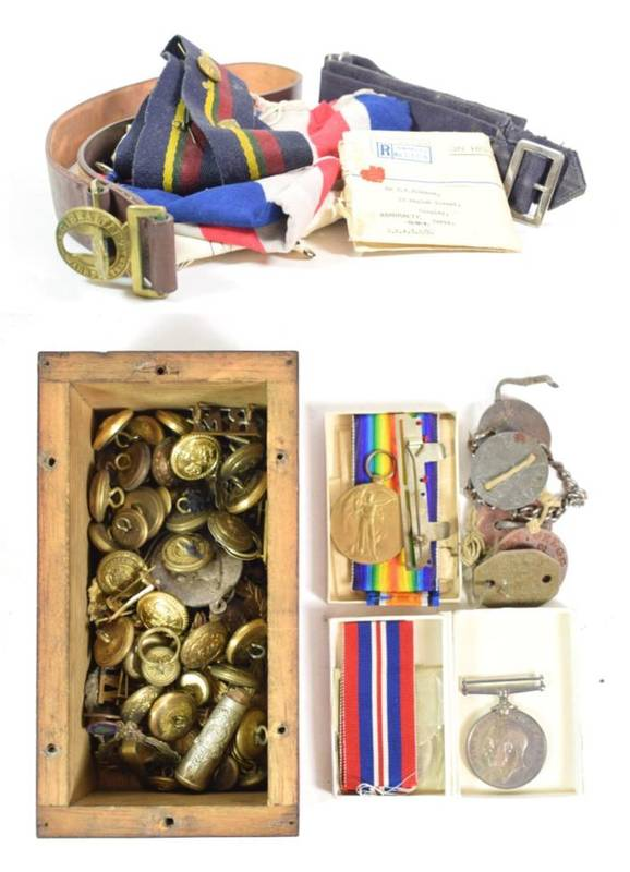 Lot 5 - A First World War Pair, awarded to 40531 PTE.J.H.GREGG. NORTH'D FUS., comprising British War...