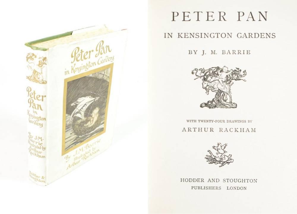 Lot 26 - Barrie, J.M. Peter Pan in Kensington Gardens. Hodder & Stoughton, [c.1910]. 8vo, org. green...