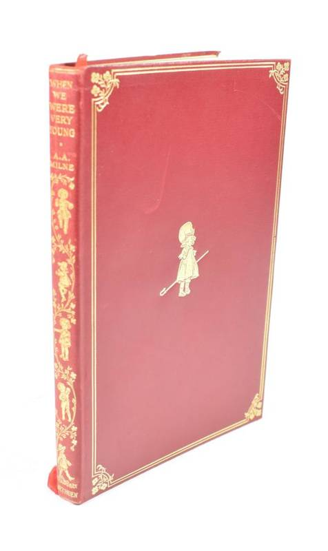 Lot 27 - Milne, A.A. When We Were Very Young. Methuen & Co., 1925. 8vo, org. publisher's limp calf gilt,...