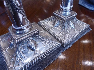 Lot 15 - A Pair of Late Victorian Silver Candlesticks, Hawksworth, Eyre & Co, Sheffield 1899, in the...