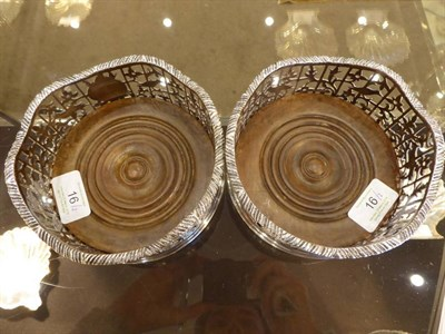 Lot 16 - A Good Pair of William IV Silver Wine Coasters, Charles Fox, London 1836, with a wavy gadroon...