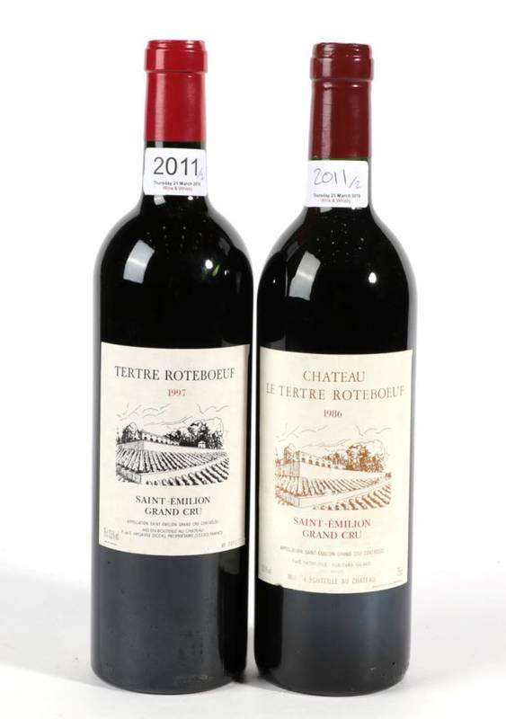 Lot 2011 - Chateau Tertre Roteboeuf 1986 Saint-Emilion Grand Cru 1 bottle, Chateau Tertre Roteboeuf 1997...