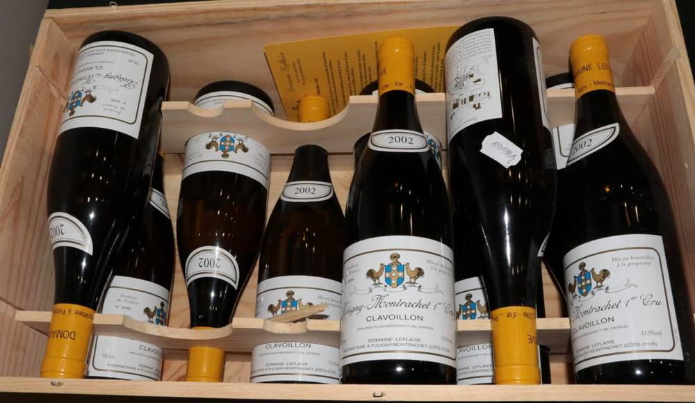 Lot 2080 - Puligny-Montrachet 1er Cru Clavillon 2002 Domaine Leflaive 10 bottles in owc 93/100 Wine Spectator