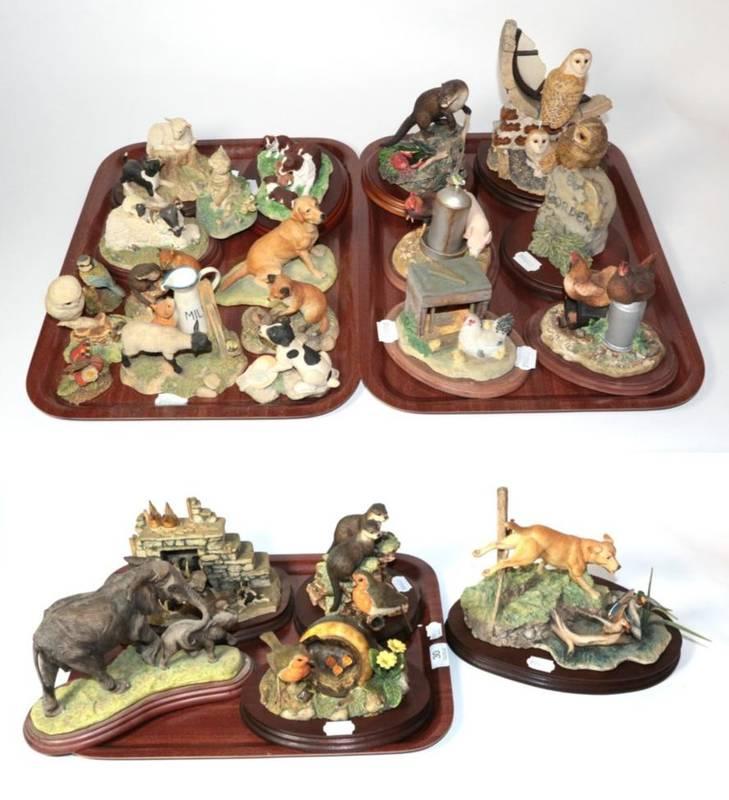 Lot 30 - Border Fine Arts Including: 'Disturbing the Peace' (Labrador and Mallards), model No. L80 by...