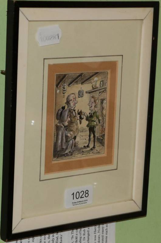 Lot 1028 - Harry B Nielson, ''Lardy Dardy'', a pen, ink and watercolour, inscribed, original book illustration