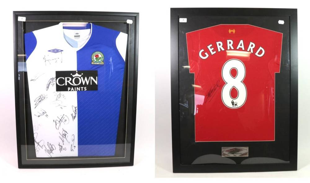 Lot 4 - Blackburn Rovers Signed Football Shirt with various players signatures (undated) together with...