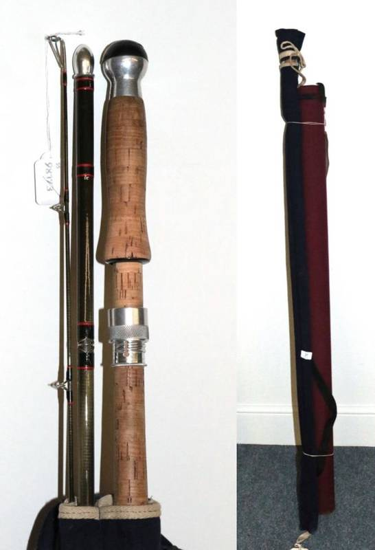 Lot 31 - A Hardy, ''Graphite Salmon Fly'' #9, three-piece, salmon fly rod, 13 ft. 9 in., No.KV11220,...