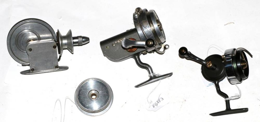 Lot 38 - A Hardy, The Hardex, No.4 Mk.III, spinning reel, hard case; a Hardy, The Altex, No.2 Mk.V,...