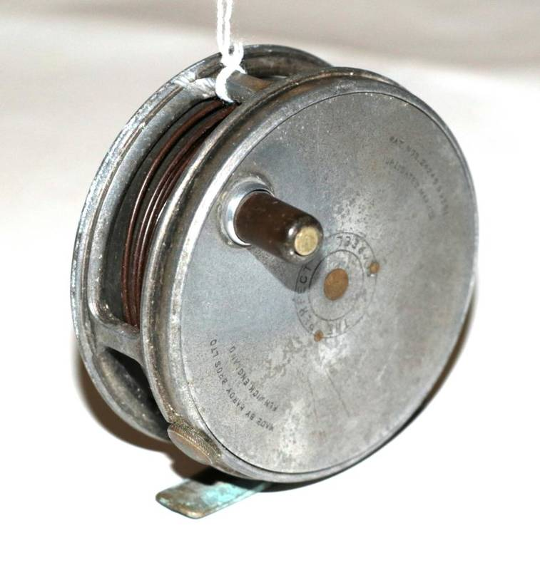 Lot 39 - A Hardy, The Perfect, 3 1/8 in. alloy trout fly reel, duplicated mark II check, ebonite handle,...