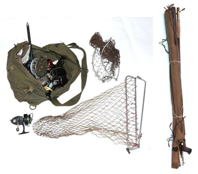 Lot 64 - Assorted fishing tackle and accessories, including eight various reels, a small quantity of fishing