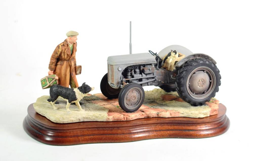 Lot 8 - Border Fine Arts 'An Early Start' (Massey Ferguson Tractor), model No. JH91 by Ray Ayres, on...