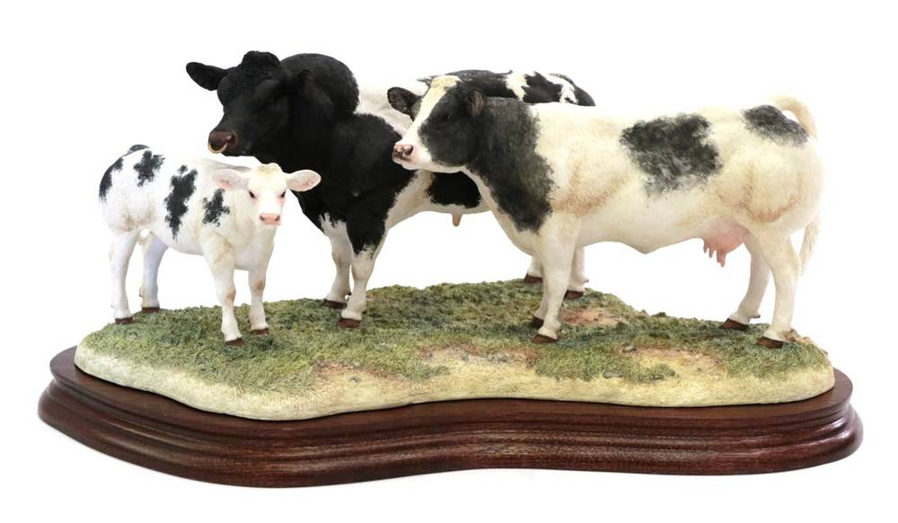 Lot 15 - Border Fine Arts 'Belgian Blue Family Group', model No. B0771 by Kirsty Armstrong, limited...