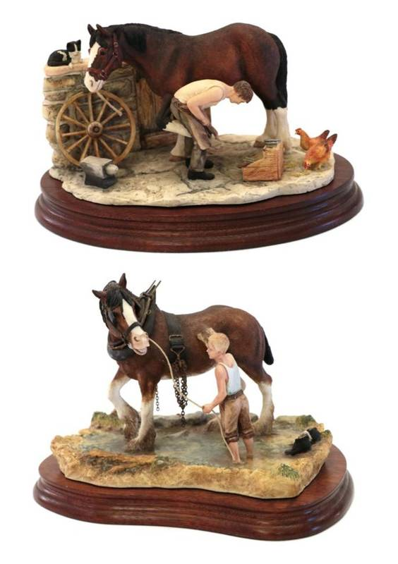 Lot 35 - Border Fine Arts 'Cooling His Heels', model No. B0770 by Ray Ayres, limited edition 80/1500, on...