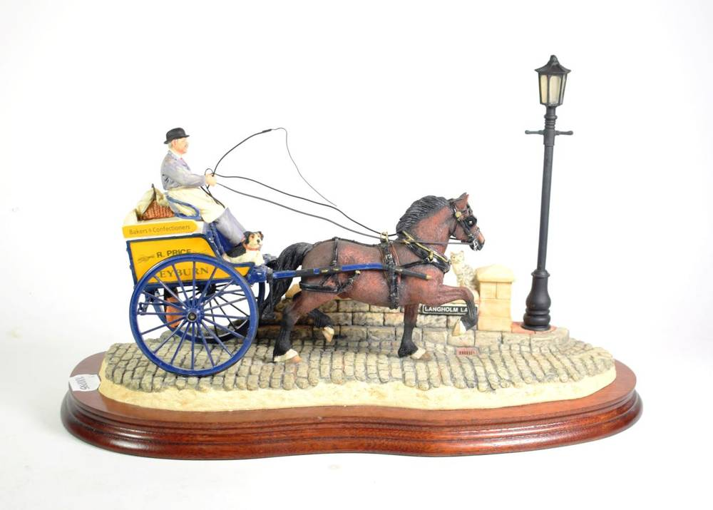 Lot 37 - Border Fine Arts 'Delivered Warm' (Horse-drawn baker's van), model No. B0040 by Ray Ayres,...