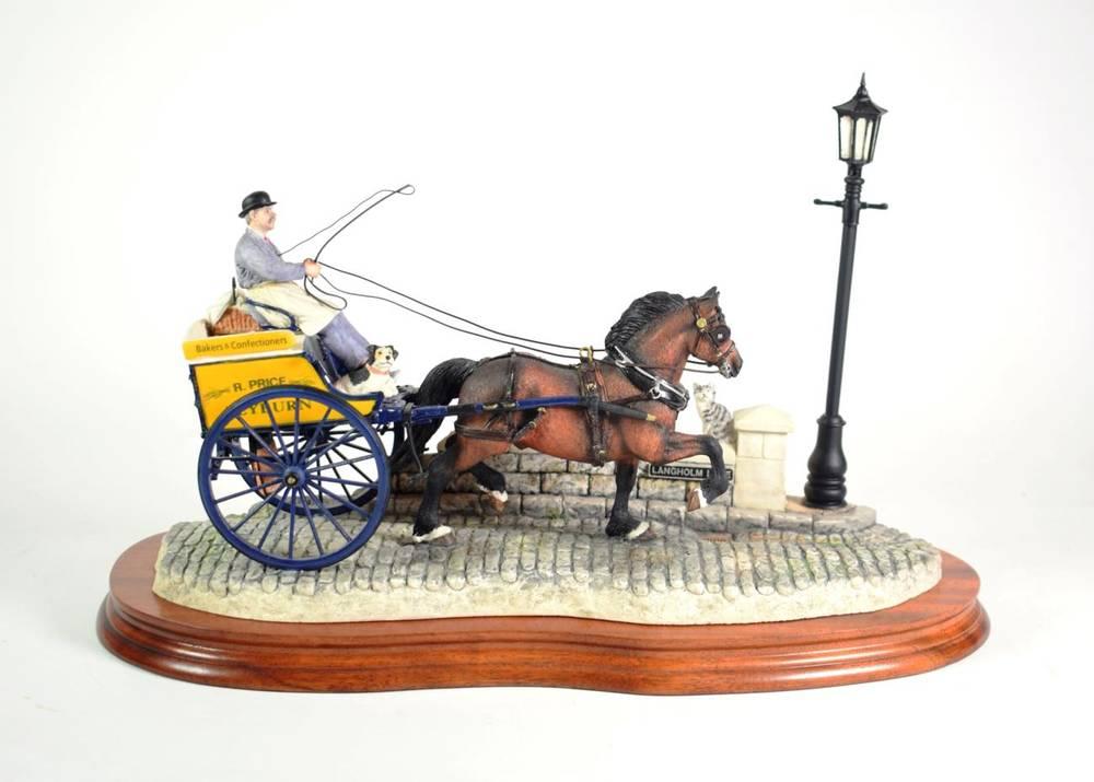 Lot 39 - Border Fine Arts 'Delivered Warm' (Horse-Drawn Baker's Van), model No. B0040 by Ray Ayres,...