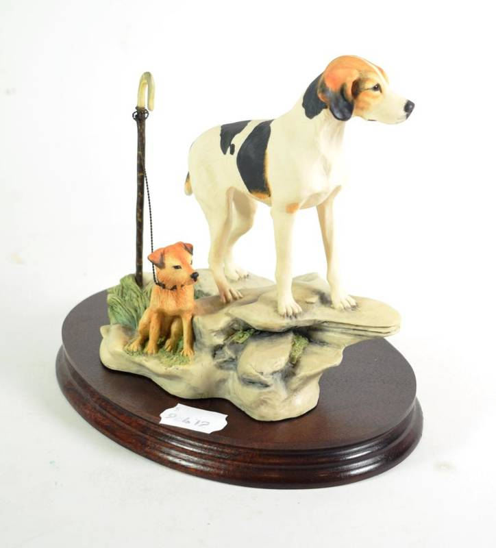 Lot 46 - Border Fine Arts 'Fell Hound with Lakeland Terrier', model No. L92 by Mairi Laing Hunt, limited...