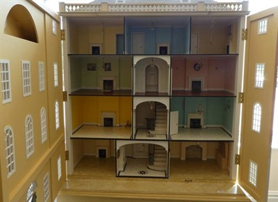 Lot 2013 - Large Modern Dolls House Designed by Christopher Cobb for the Singing Tree, London 1999, with...
