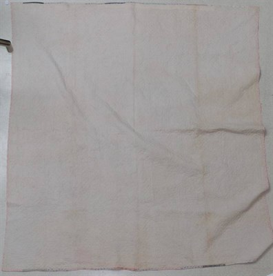 Lot 2014 - Mid 19th Century Pattern Book Strippy Design Quilt, incorporating strips of mauve and white striped