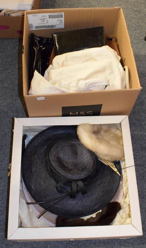 Lot 1045 - Assorted mainly table linen, crochet mats, embroidered items, modern handbags including...