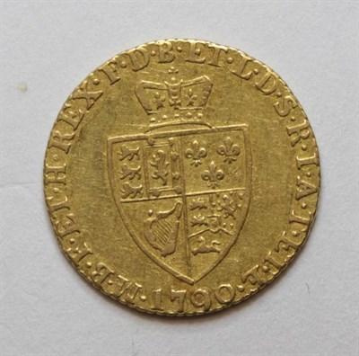 Lot 18 - George III (1760-1820), Half Guinea, 1790, fifth laureate head right, rev. crowned 'spade'...