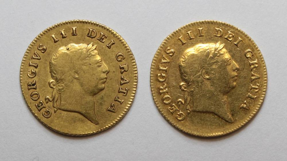 Lot 20 - George III (1760-1820), Half Guineas (2), 1806 and 1809, seventh laureate head right, rev....