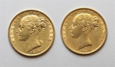 Lot 28 - Victoria (1837-1901), Sovereigns (2), second young head left, W.W. in relief, 1851 and 1852,...