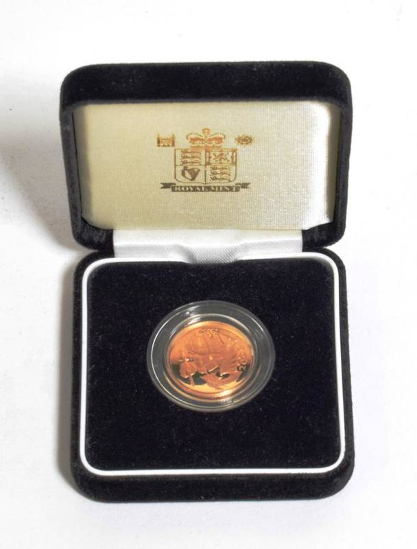 Lot 42 - Elizabeth II (1952-), gold proof Sovereign, 2005, in Royal Mint box and case of issue with...