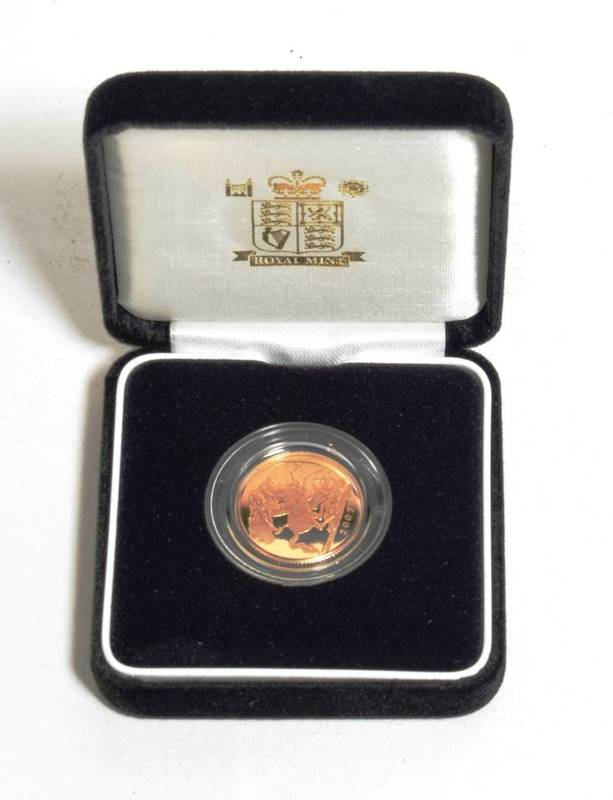Lot 44 - Elizabeth II (1952-), gold proof Sovereign, 2007, in Royal Mint box and case of issue with...