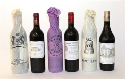 Lot 2001 - Chateau Latour 1996 Pauillac 1 bottle Chateau Haut Brion 1996 Pessac-Leognan 1 bottle Chateau...
