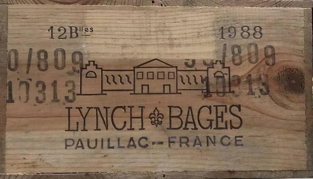 Lot 2015 - Chateau Lynch Bages 1988 Pauillac 12 bottles owc 90/100 Robert Parker