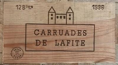Lot 2016 - Carruades de Lafite 1996 Pauillac 12 bottles owc 89/100 Robert Parker