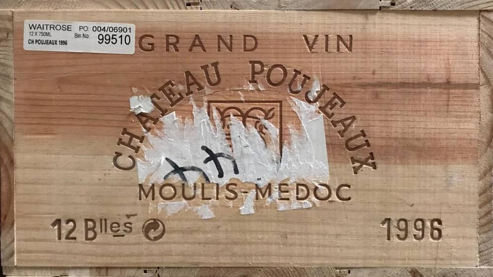 Lot 2017 - Chateau Poujeaux 1996 Moulis-Medoc 12 bottles owc 90.4/100 CT