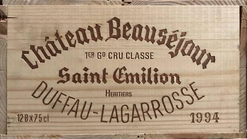 Lot 2019 - Château Beauséjour 1994 Saint Emilion Grand Cru 12 bottles owc