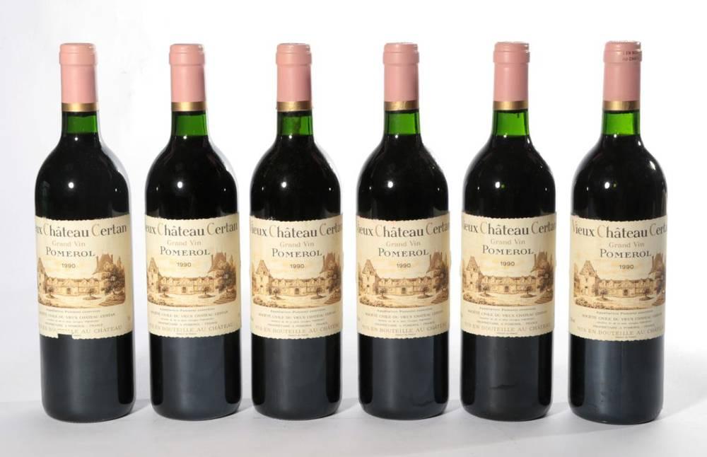 Lot 2025 - Chateau Vieux Chateau Certan 1990 Pomerol 6 bottles 94/100 Robert Parker
