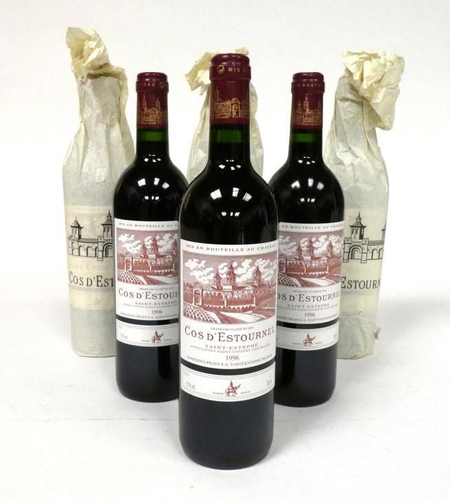 Lot 2027 - Chateau Cos d'Estournel 1996 Saint-Estèphe 6 bottles 95/100 Robert Parker