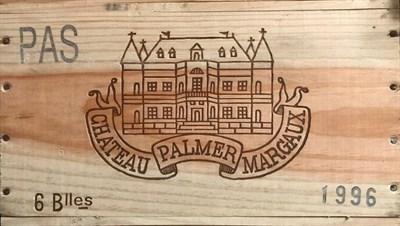 Lot 2030 - Chateau Palmer 1996 Margaux 6 bottles owc 91/100 Robert Parker