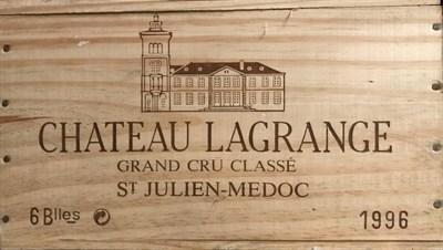 Lot 2031 - Chateau Lagrange 1996 Saint-Julien 6 bottles owc 92/100 Robert Parker