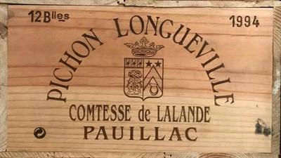 Lot 2032 - Chateau Pichon Longueville Comtesse de Lalande 1994 Pauillac 12 bottles owc 91/100 Robert Parker