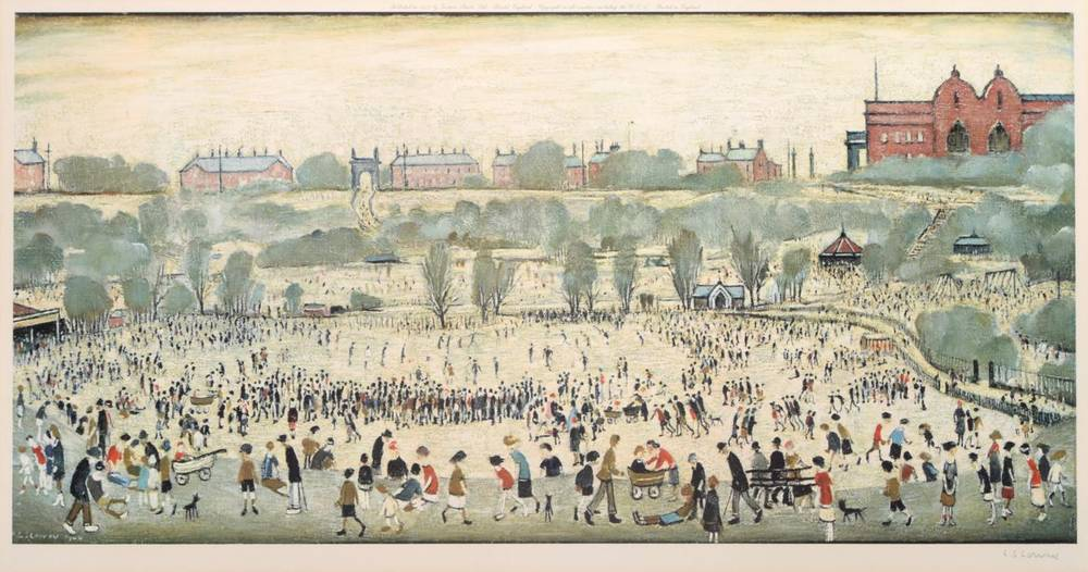 Lot 9 - After Laurence Stephen Lowry RBA, RA (1887-1976) ''Peel Park'' Signed, with the Fine Art Trade...