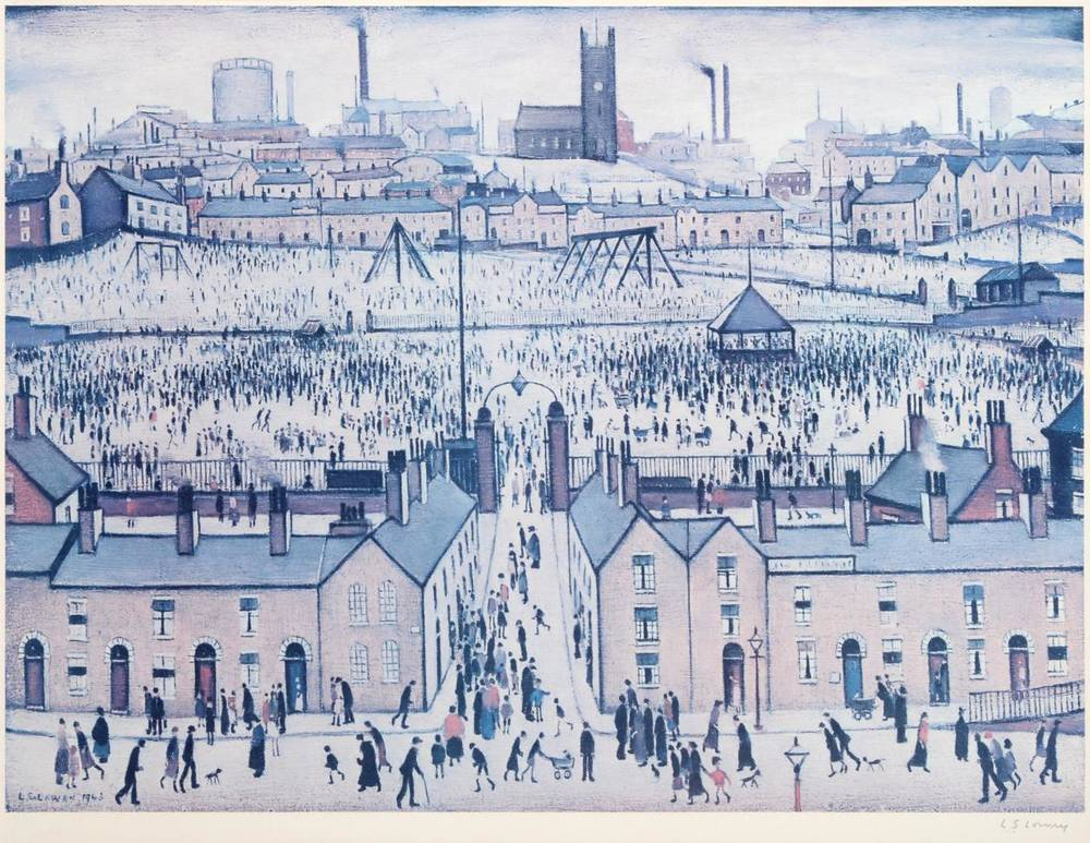 Lot 10 - After Laurence Stephen Lowry RBA, RA (1887-1976) ''Britain at Play'' Signed, with the...