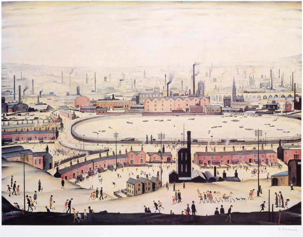 Lot 11 - After Laurence Stephen Lowry RBA, RA (1887-1976) ''The Pond'' Signed, with the blindstamp for...